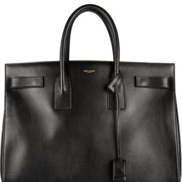 Saint Laurent, Sac de jour, Calf-skin. Jumbo, Black.