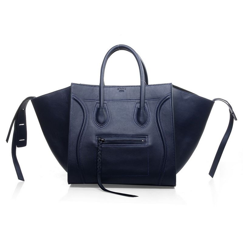 Céline Phantom Bag, Navy.