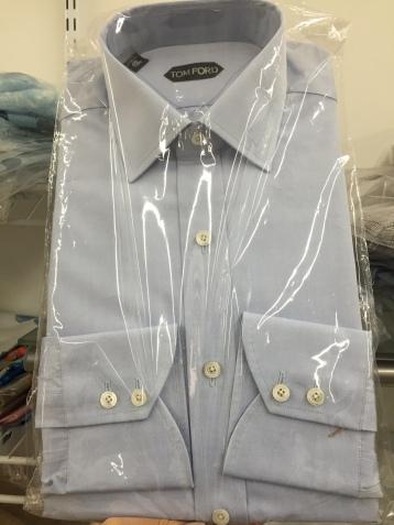 Baby blue, Tom Ford Dress Shirt.