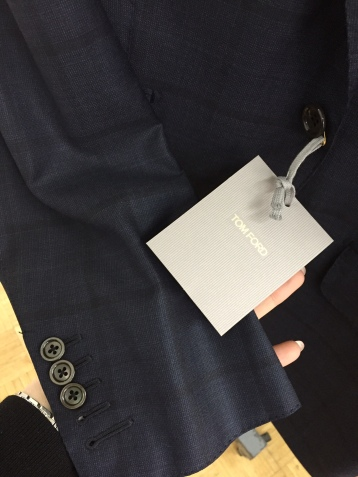 Tom Ford Suit, detail.