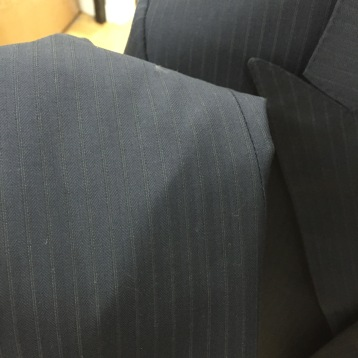 Tom Ford Pin Strip Navy Suit, details.