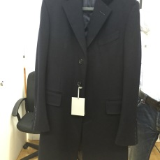 Tom Ford Cashmere Navy Overcoat with Velvet collar