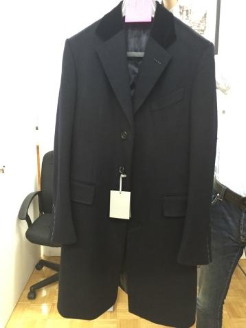 Tom Ford Cashmere Navy Overcoat with Velvet collar