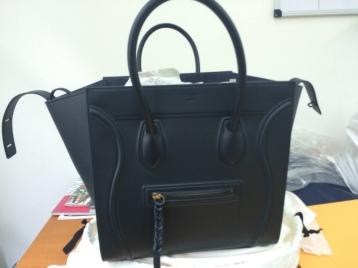 Céline Phantom Bag, Navy.