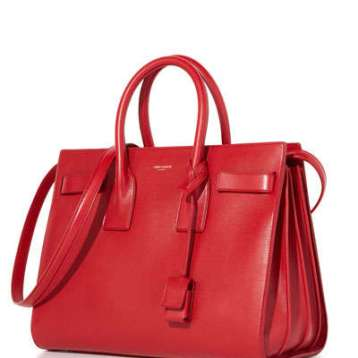 Saint Laurent, Sac de jour, Calf-skin. Medium, Red.